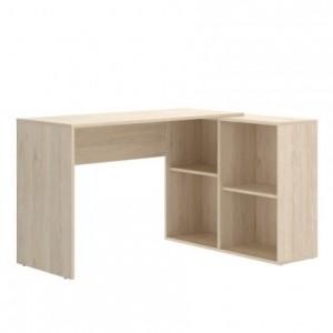 Mesa escritorio AXY tablero de partículas melaminizado color natural 96x121x73 cm / 50x193x73 cm