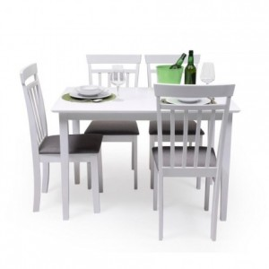 Mesa de comedor o cocina KANSAS color blanco